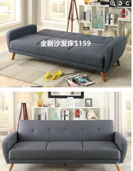 全新沙发床$159\沙发$299\梳妆台$80